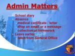 admin matters1