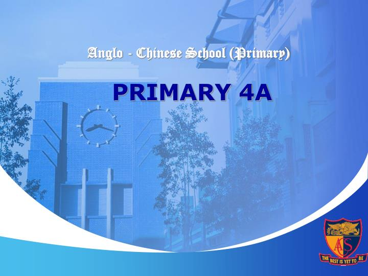 Anglo chinese school primary primary 4a