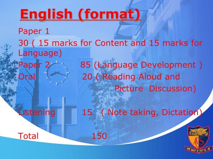 English (format)