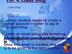 for 4 class blog