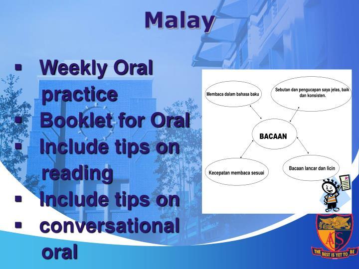 Weekly Oral