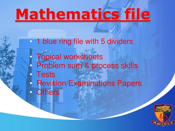 Mathematics file