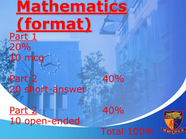 Mathematics (format)