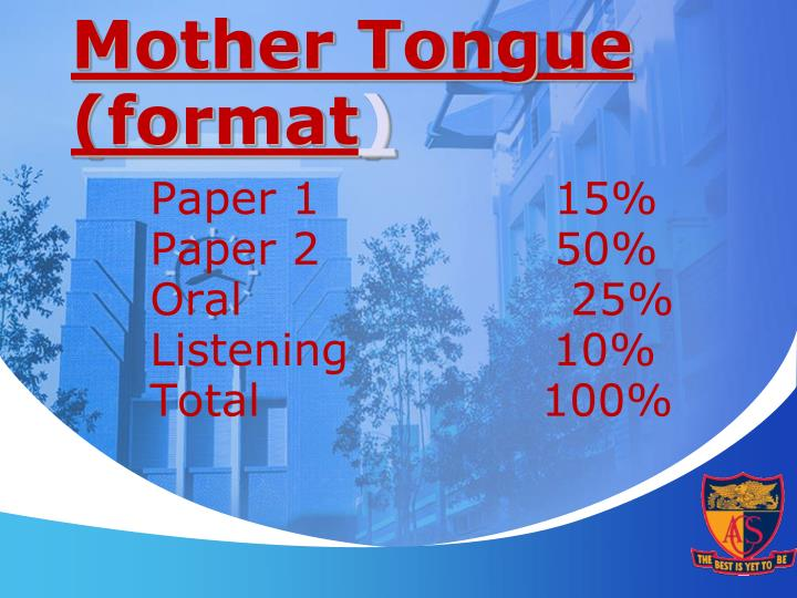 Mother Tongue (format