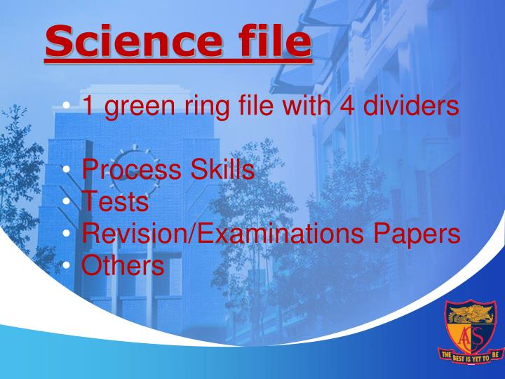 Science file