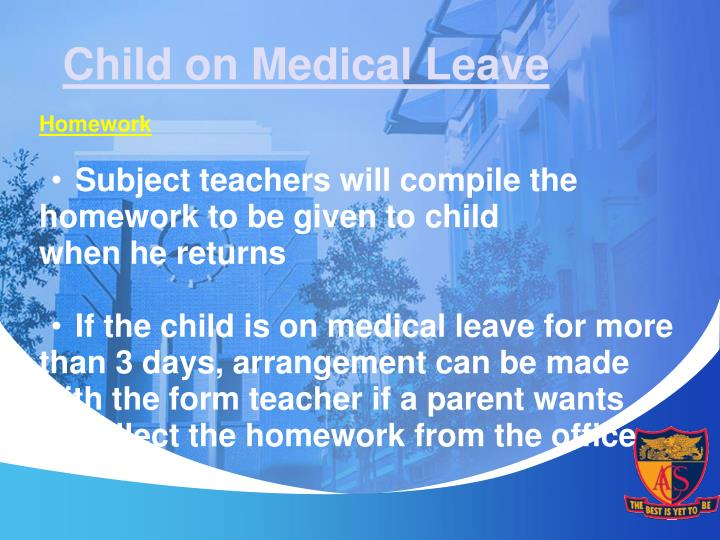 Child on Medical Leave