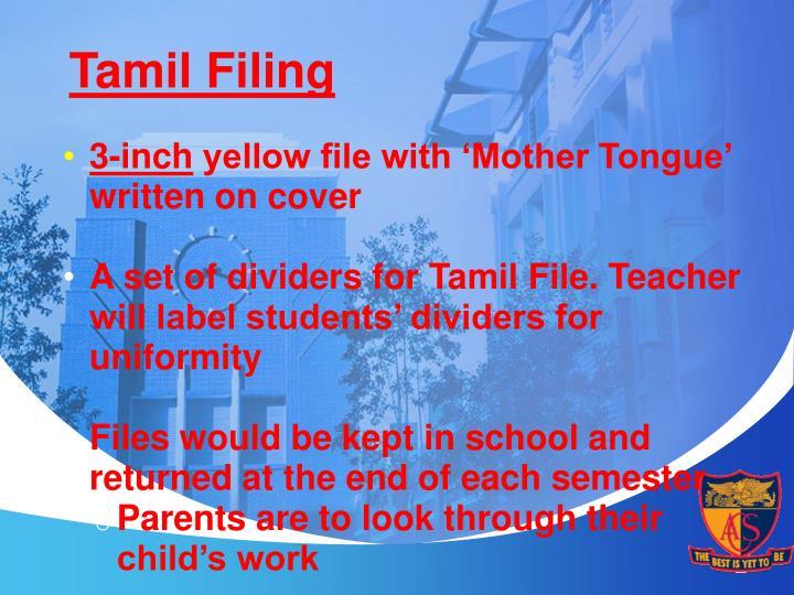 Tamil Filing