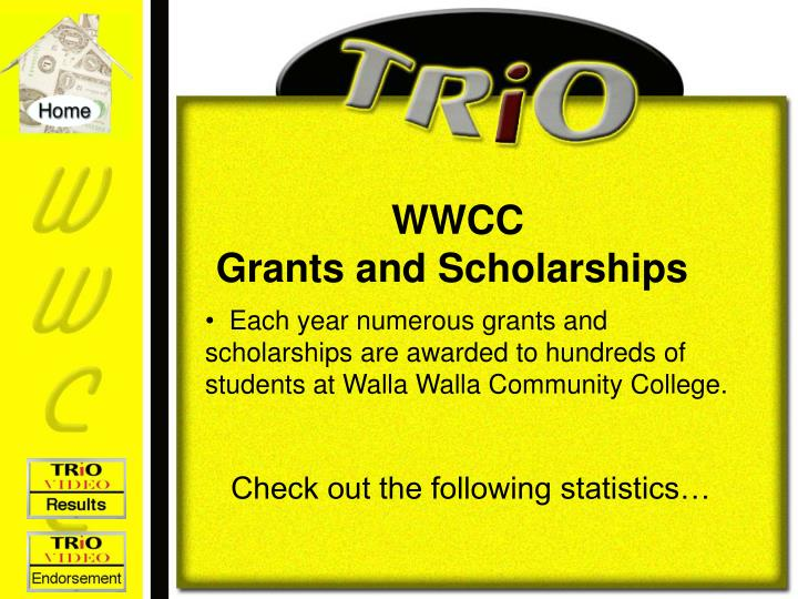 Wwcc grants and scholarships l.jpg
