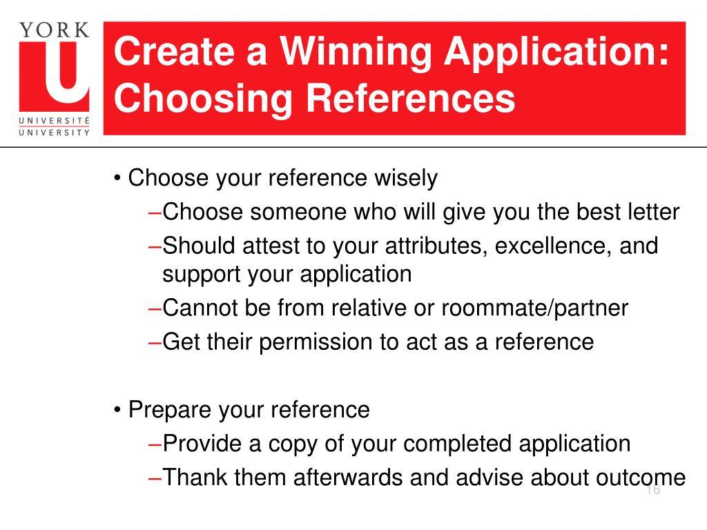 Create a Winning Application: