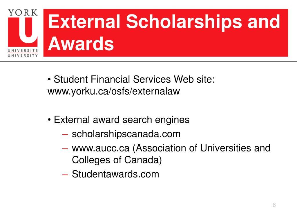 External Scholarships and Awards