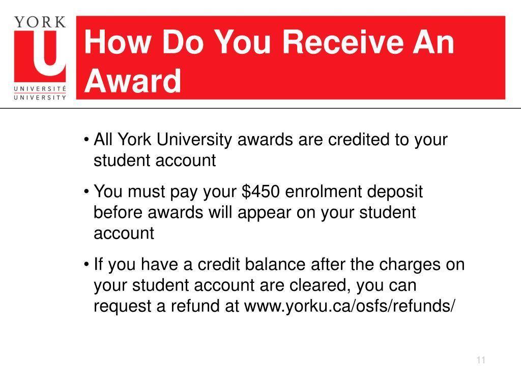 How Do You Receive An Award