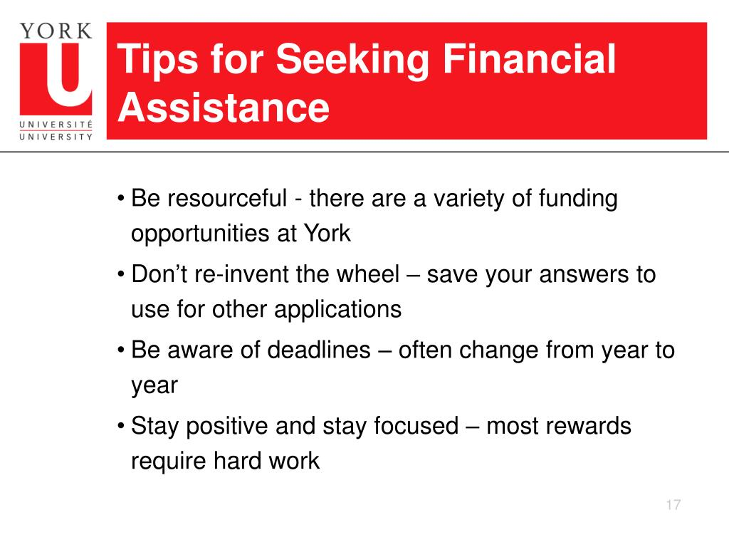 Tips for Seeking Financial Assistance