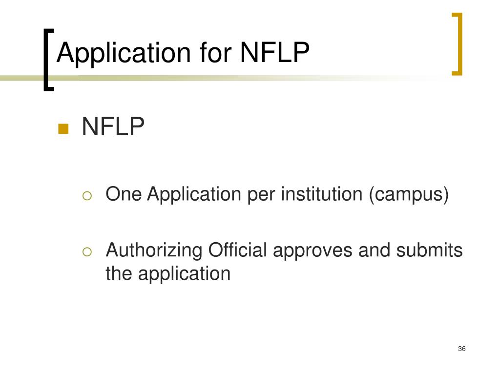 Application for NFLP