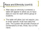 race and ethnicity cont d54