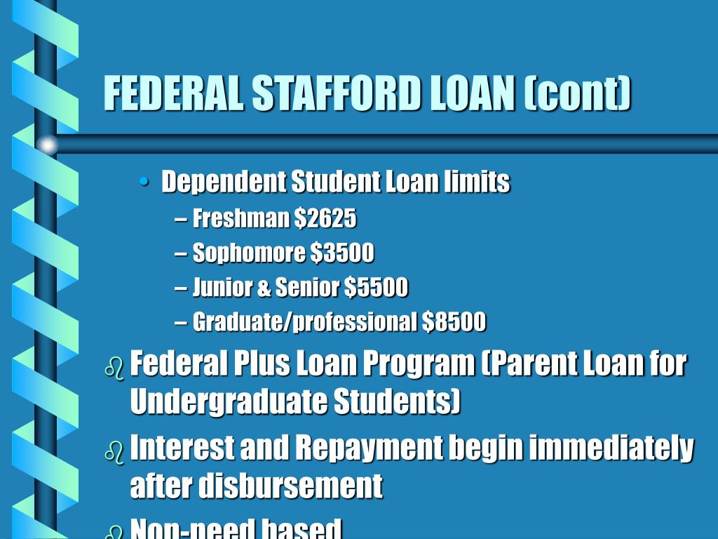 FEDERAL STAFFORD LOAN (cont)