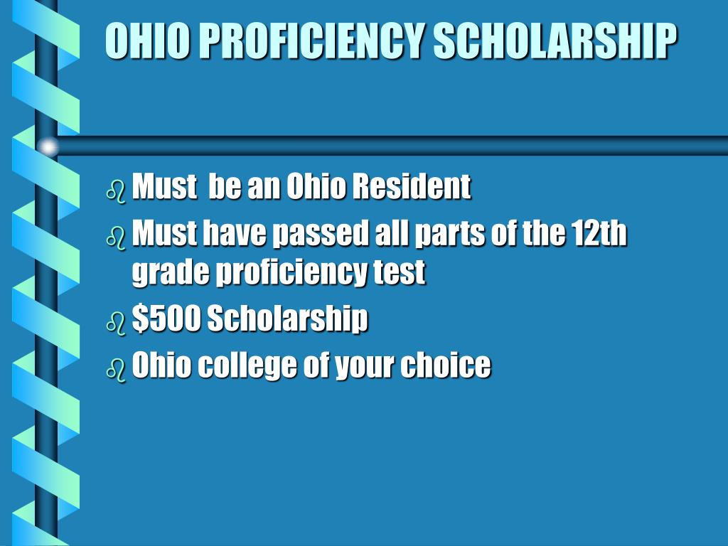 OHIO PROFICIENCY SCHOLARSHIP