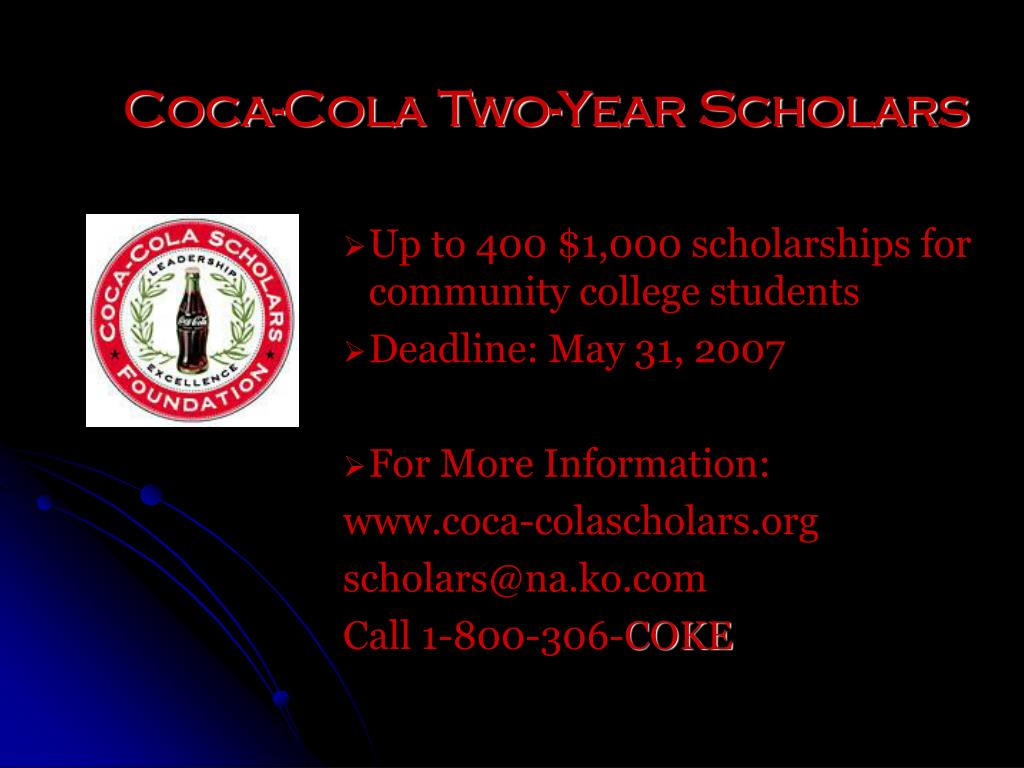 Coca-Cola Two-Year Scholars
