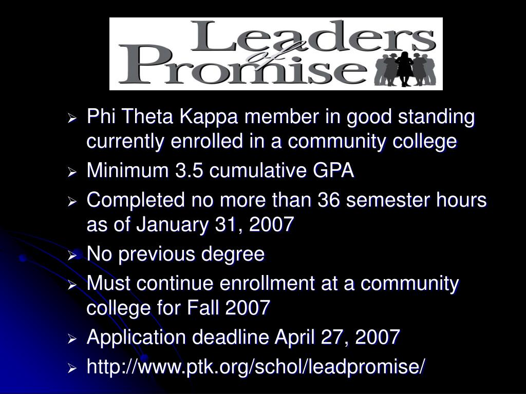 Leaders of Promise
