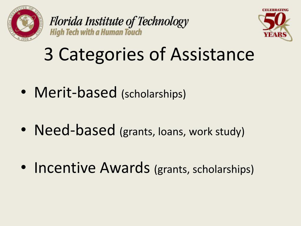 3 Categories of Assistance