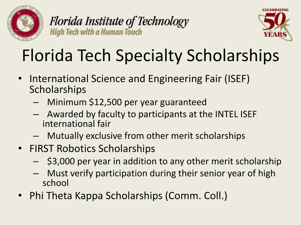 Florida Tech Specialty Scholarships