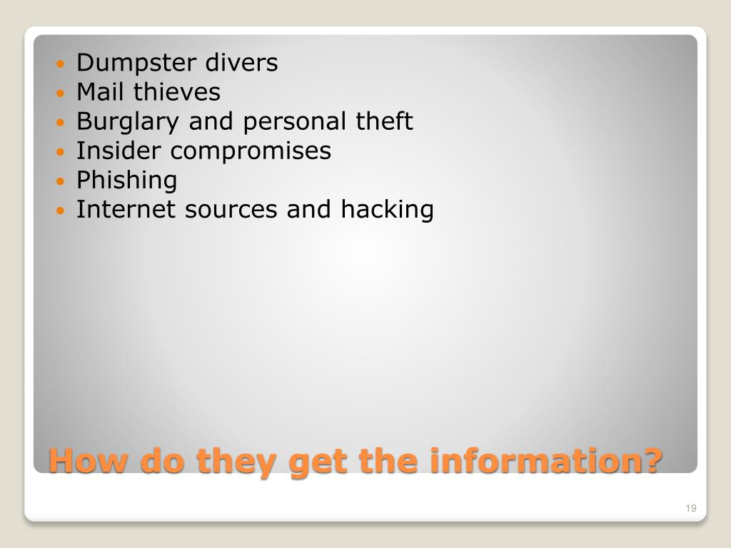Dumpster divers