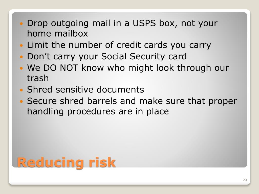 Drop outgoing mail in a USPS box, not your home mailbox