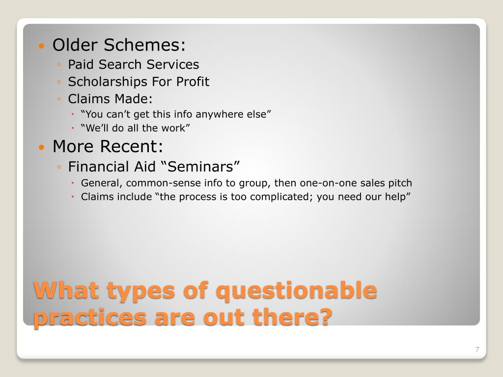 Older Schemes: