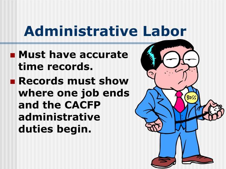 Administrative Labor