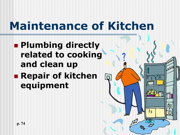 Maintenance of Kitchen
