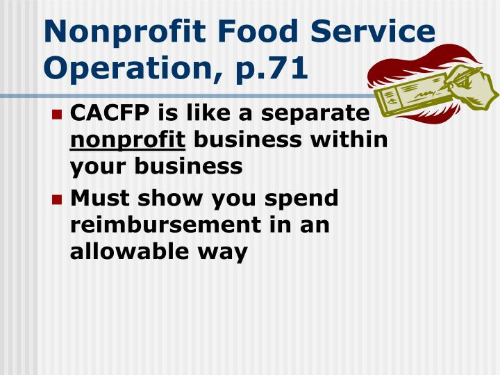 Nonprofit Food Service Operation, p.71