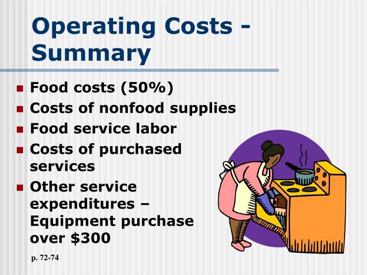 Operating Costs - Summary