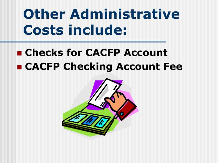Other Administrative Costs include: