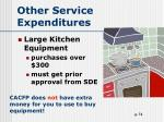 other service expenditures