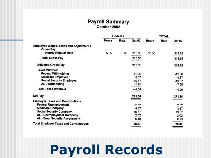 Payroll Records