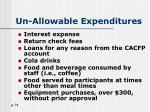 un allowable expenditures