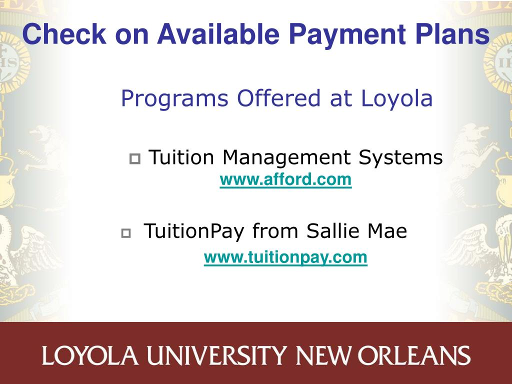 Check on Available Payment Plans