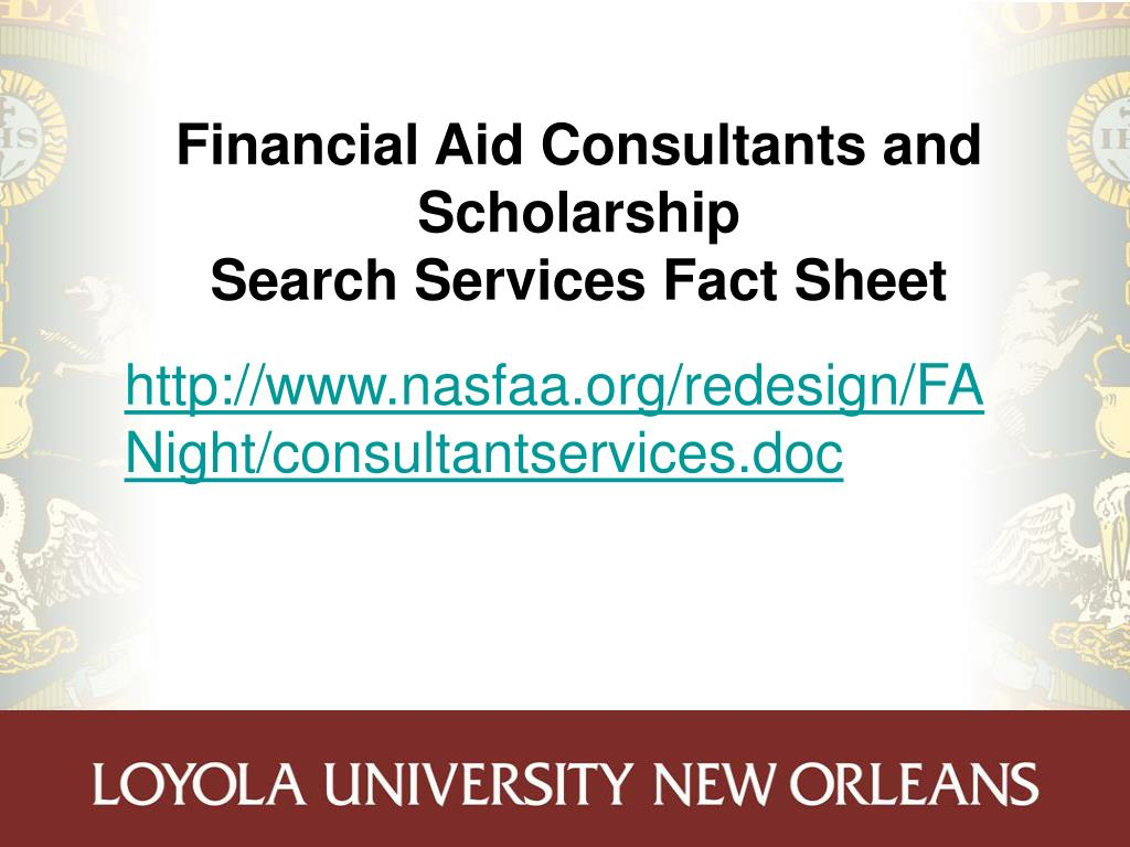 Financial Aid Consultants and Scholarship