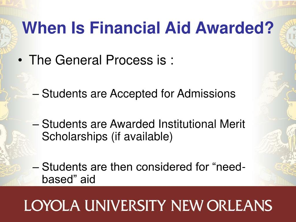 When Is Financial Aid Awarded?