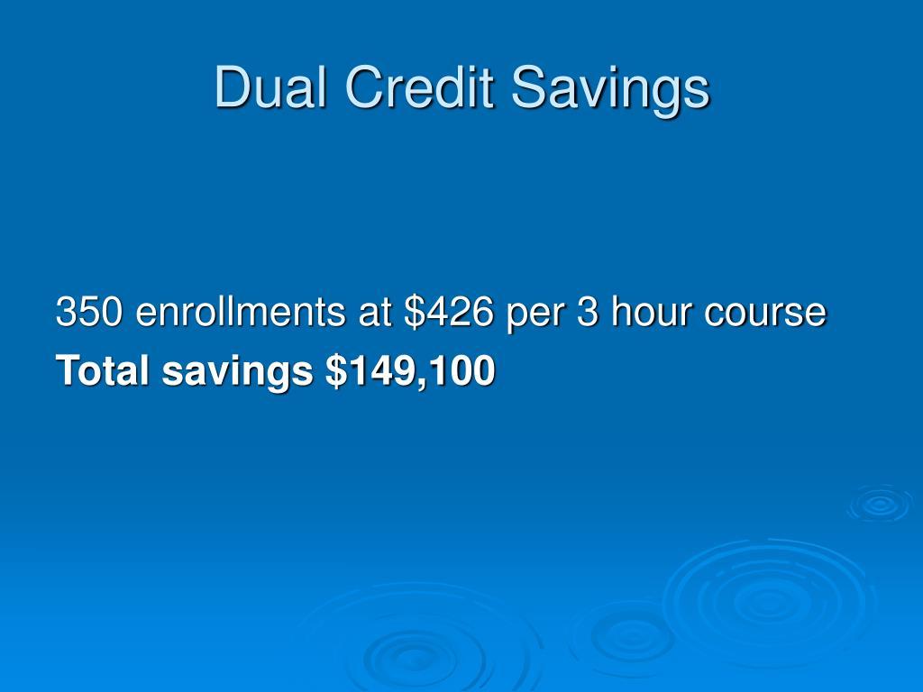 Dual Credit Savings