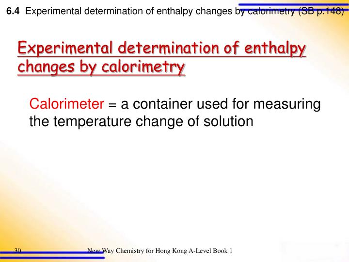 determination of enthalpy change of neutralization The standard molar enthalpy of neutralisation is the enthalpy change per mole of water formed in the neutralisation between an acid and alkali at 298 k and one atmosphere pressure for the neutralisation of a strong acid such as hcl and h2so4, and a strong alkali such as naoh, the standard molar enthalpy of neutralisation is almost invariably.