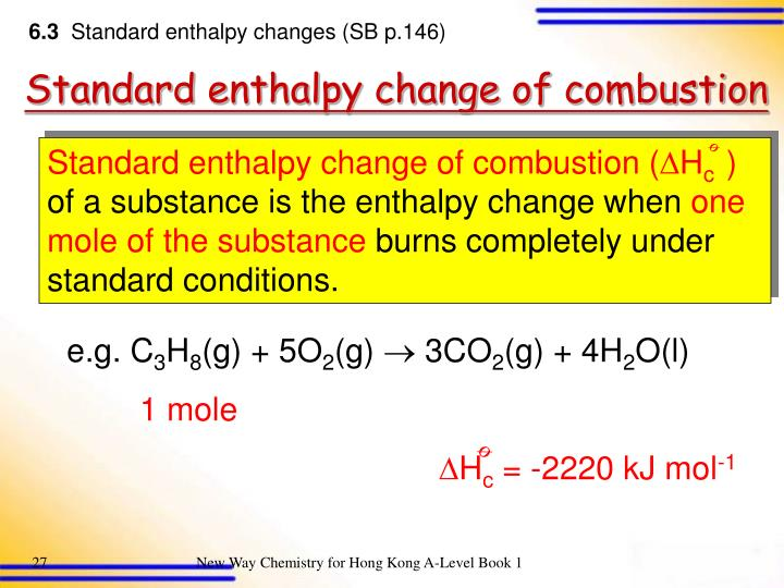 enthalpy change of combustion coursework The heat given off when you operate a bunsen burner is equal to the enthalpy change of the methane combustion reaction that about this course preface.