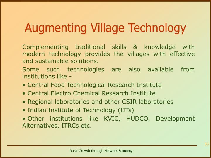 Augmenting Village Technology