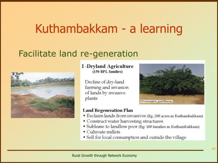 Kuthambakkam - a learning