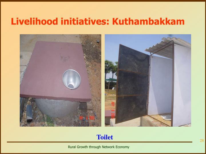 Livelihood initiatives: Kuthambakkam