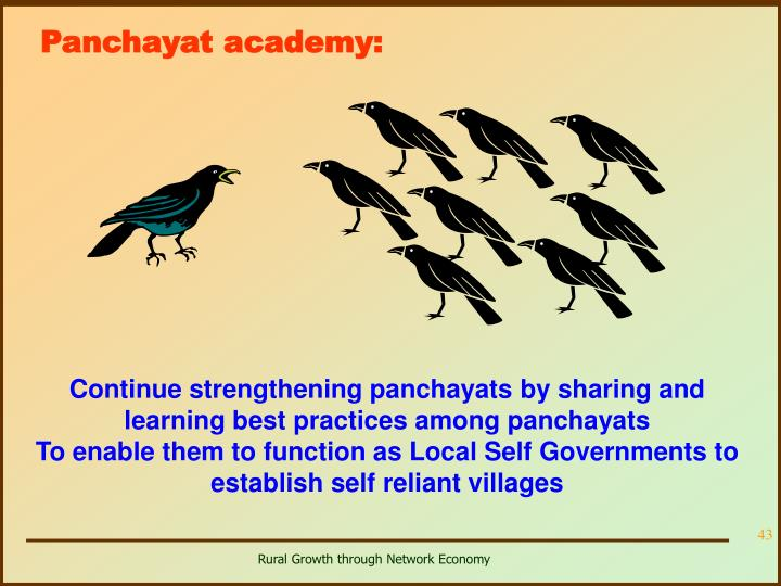 Panchayat academy: