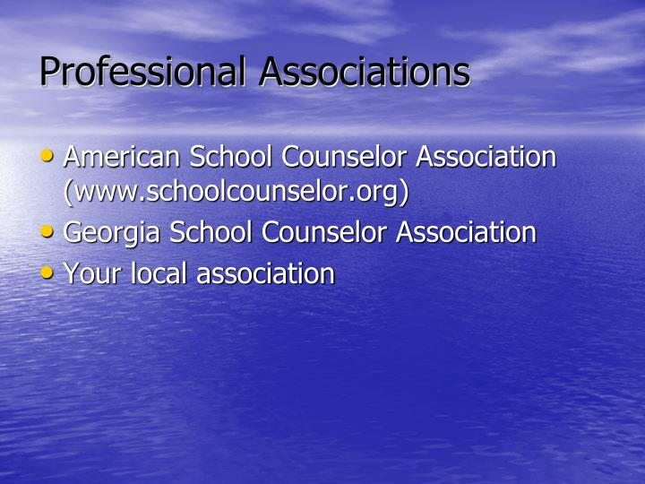 Professional Associations