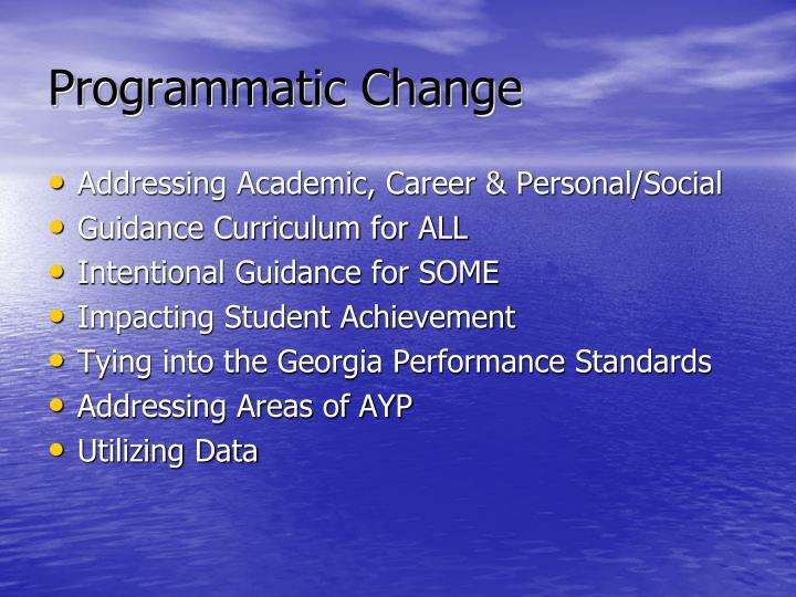 Programmatic Change