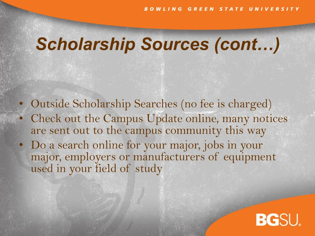 Outside Scholarship Searches (no fee is charged)