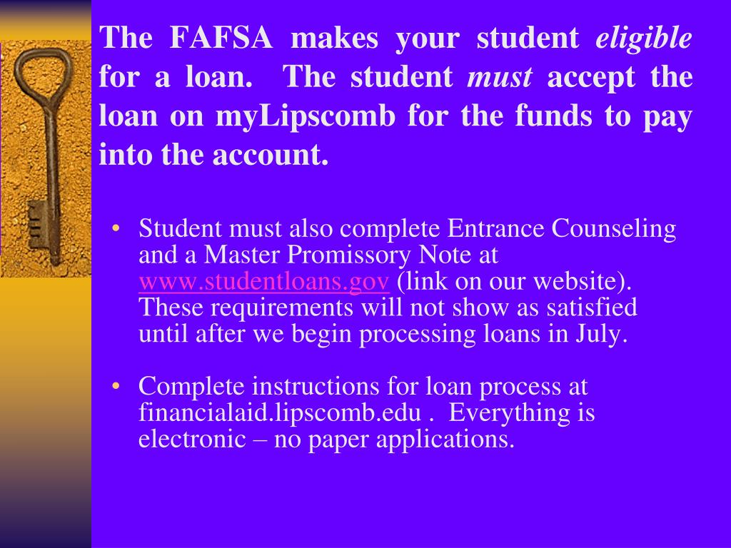 The FAFSA makes your student