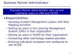 business partner administrator